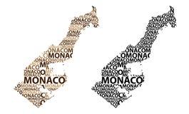 Mapa de Mônaco - ilustração do vetor ilustração stock