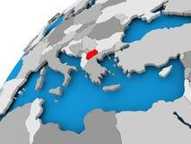 Mapa de Macedonia en rojo Imagen de archivo libre de regalías