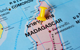 Mapa de Madagáscar Imagens de Stock