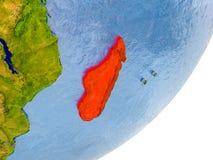 Mapa de Madagáscar na terra Imagens de Stock