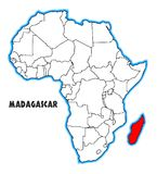 Mapa de Madagascar África Foto de archivo libre de regalías