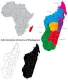 Mapa de Madagascar Imagem de Stock