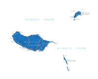 Mapa de Madeira Ilustração Stock