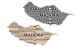 Mapa de Madeira - ilustração do vetor ilustração royalty free