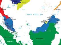 Mapa de Malaysia Ilustração Royalty Free