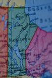 Mapa de Manitoba Imagenes de archivo