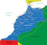Mapa de Marrocos Ilustração do Vetor