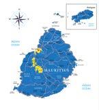 Mapa de Maurícias Imagens de Stock Royalty Free