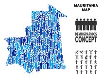 Mapa de Mauritania del Demographics libre illustration