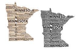 Mapa de Minnesota - ilustração do vetor Fotografia de Stock Royalty Free