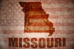 Mapa de Missouri del vintage fotos de archivo