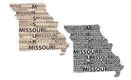 Mapa de Missouri - ilustração do vetor Foto de Stock Royalty Free