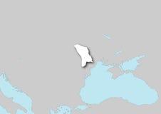 Mapa de Moldova Imagem de Stock