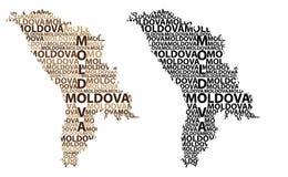 Mapa de Moldova - ilustração do vetor ilustração do vetor