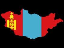 Mapa de Mongolia Fotografia de Stock Royalty Free