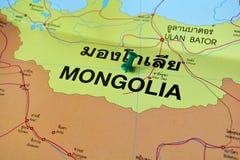 Mapa de Mongolia Imagen de archivo libre de regalías