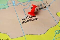 Mapa de Mongolia Fotografía de archivo libre de regalías