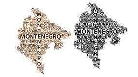 Mapa de Montenegro - ilustração do vetor ilustração stock