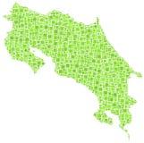 Mapa de mosaicos de Costa Rica Imagens de Stock