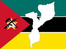 Mapa de mozambique Foto de Stock Royalty Free