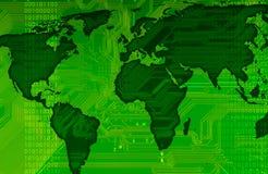 Mapa de mundo ilustração stock