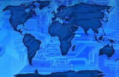 Mapa de mundo ilustração do vetor