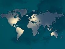 Mapa de mundo Foto de Stock Royalty Free