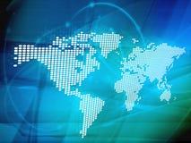 Mapa de mundo Imagens de Stock