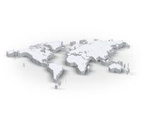 mapa de mundo 3d ilustração do vetor