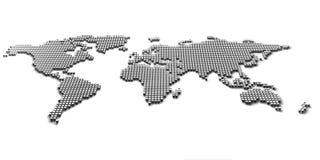 Mapa de mundo 3d Fotografia de Stock Royalty Free