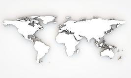 mapa de mundo 3d Imagem de Stock Royalty Free