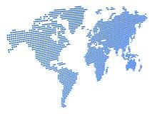 Mapa de mundo 3D pontilhado Fotografia de Stock