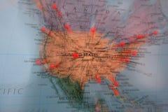 Mapa de mundo Fotografia de Stock Royalty Free