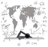 Mapa de mundo Fotografia de Stock