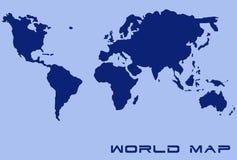 Mapa de mundo Foto de Stock