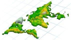 Mapa de mundo abstrato Imagens de Stock
