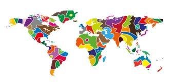 Mapa de mundo abstrato Foto de Stock Royalty Free