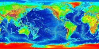 Mapa de mundo abstrato Fotografia de Stock Royalty Free