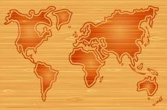 Mapa de mundo abstrato Fotos de Stock