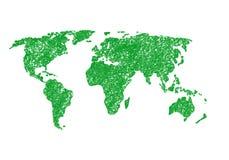 Mapa de mundo abstrato Imagens de Stock Royalty Free
