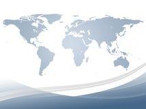 Mapa de mundo abstrato Fotografia de Stock