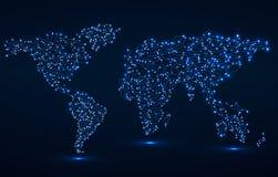 Mapa de mundo abstrato Placa de circuito Imagens de Stock Royalty Free