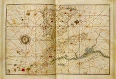 Mapa de mundo antigo Fotos de Stock Royalty Free