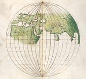 Mapa de mundo antigo Fotografia de Stock