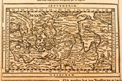 Mapa de mundo antigo Fotografia de Stock Royalty Free
