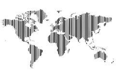 Mapa de mundo barcode_2 Imagem de Stock Royalty Free