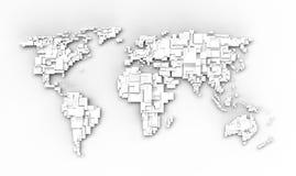 Mapa de mundo branco ilustração royalty free