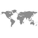 Mapa de mundo cinzento Imagem de Stock Royalty Free