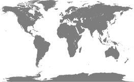 Mapa de mundo cinzento Imagens de Stock Royalty Free