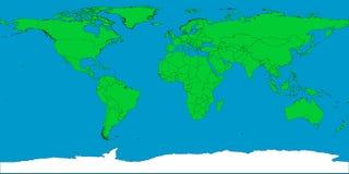 Mapa de mundo com beiras Foto de Stock Royalty Free